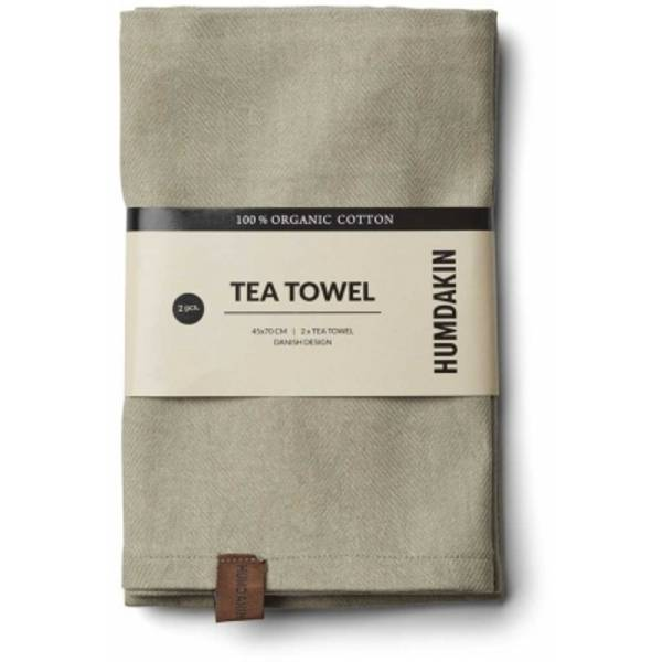 Humdakin Organic Tea Towel 2 pack. Oak