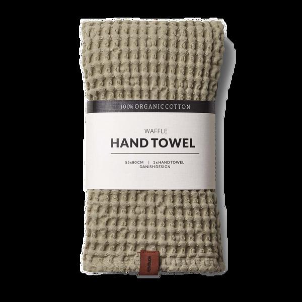 Humdakin Waffle hand towels. Oak