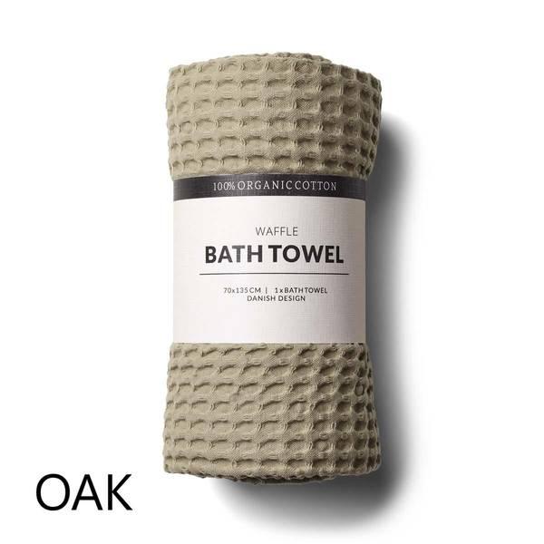 Humdakin Waffle Bath Towels. Oak