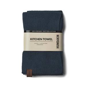 Bilde av Humdakin knitted kitchen towel. Sea blue