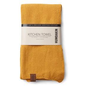 Bilde av Humdakin knitted kitchen towel. Yellow fall