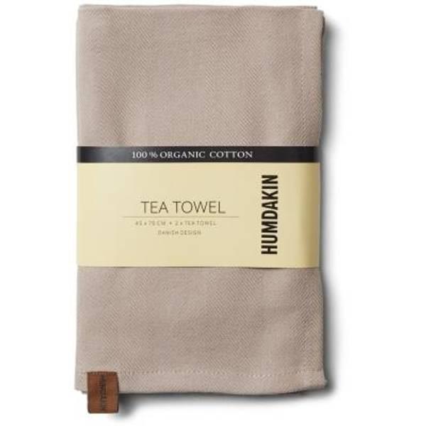 Humdakin Organic Tea Towel 2-pack. Light Stone