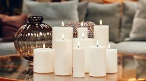 Bilde av Deluxe Homeart Kubbelys, hvit