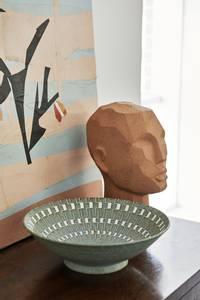 Bilde av HKliving Abstrakt hodeskulptur terracotta