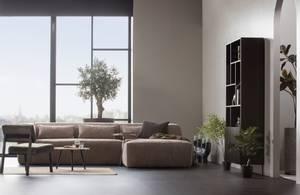 Bilde av Woood - Bean sofa 3-seter med sjeselong, stoff -