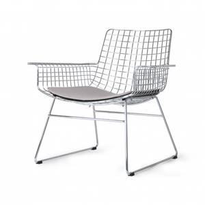 Bilde av HKliving metal wire lounge chair, alu med