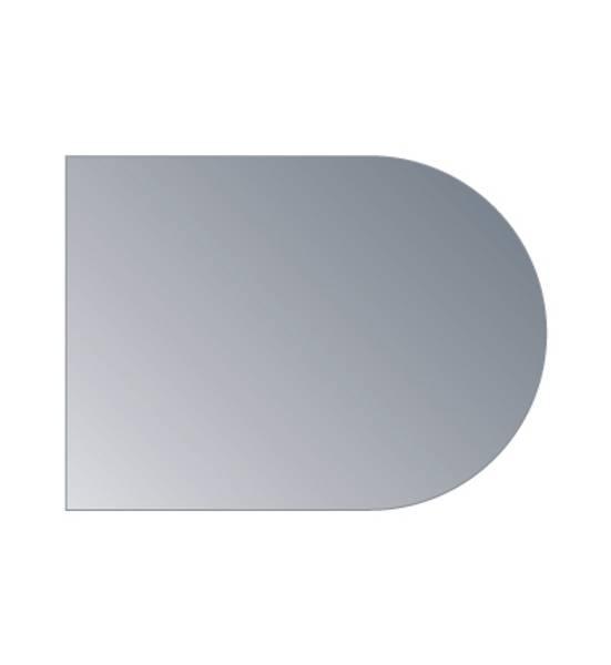 Underlagsplate 6mm sotet glass fasettslipt. Buet B70XD95cm
