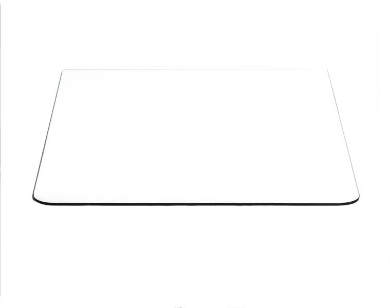 Underlagsplate klart glass B90x D70cm F2