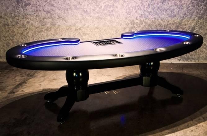Bilde av Lumen pokerbord med dealer tray og bill slot
