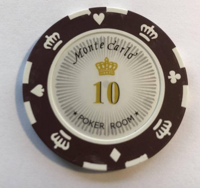 Bilde av Monte Carlo 14g clay sjetonger verdi 10 25 stk.
