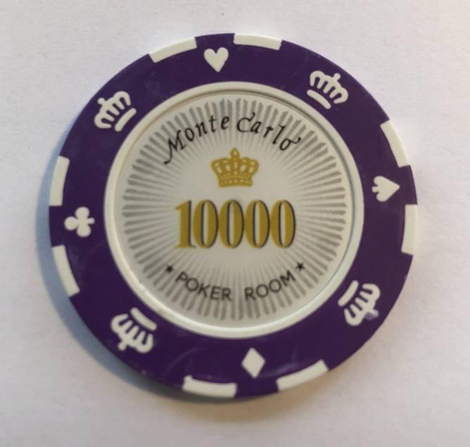 Bilde av Monte Carlo 14g clay sjetonger verdi 10000 25
