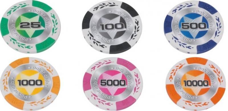 Bilde av 500 wheatear clay cash og turnering sjetonger 25-10000