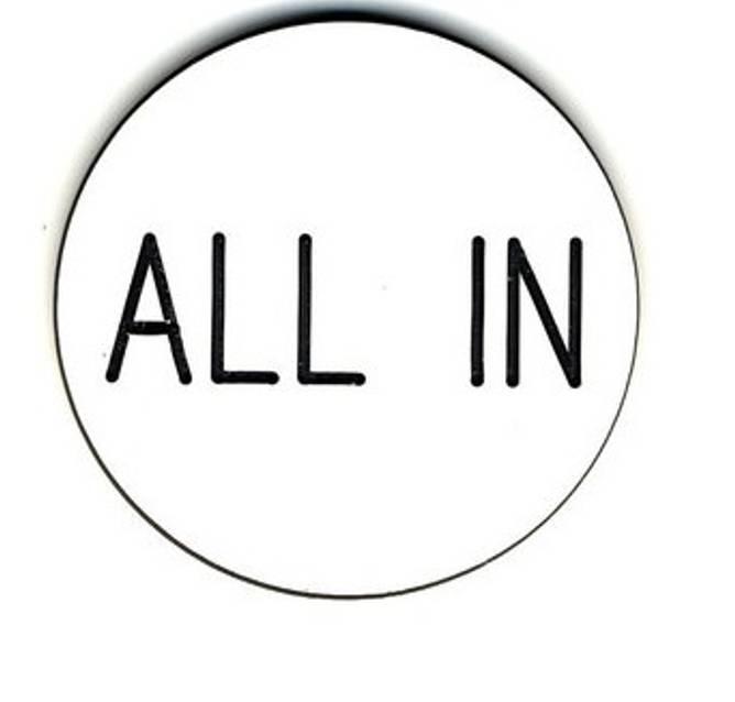Bilde av All in button