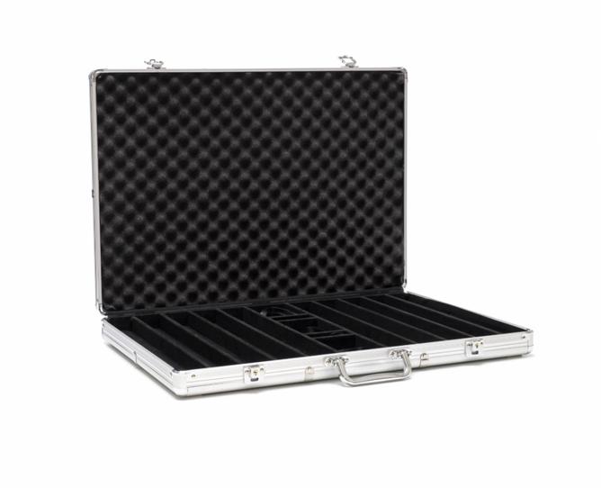 Bilde av Aluminiums koffert for 1000 sjetonger