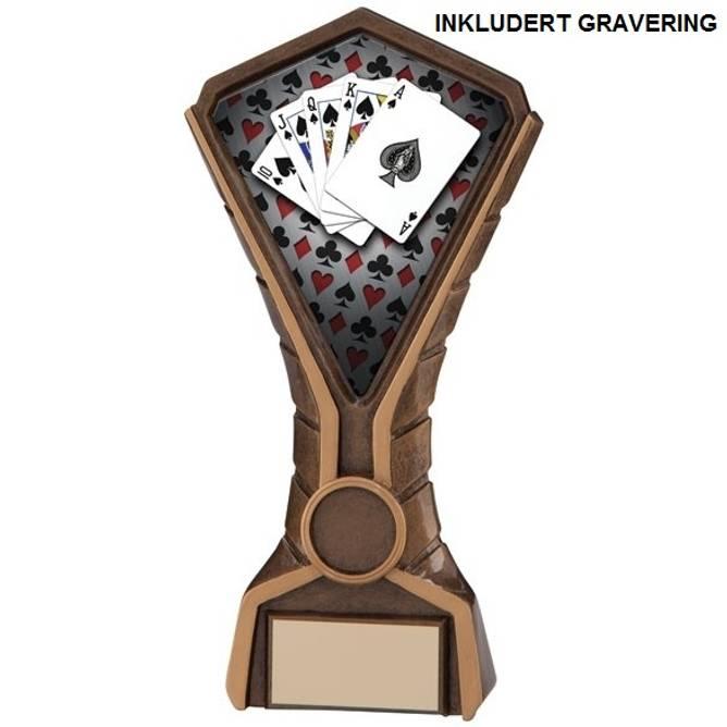 Bilde av Poker pokal royal flush
