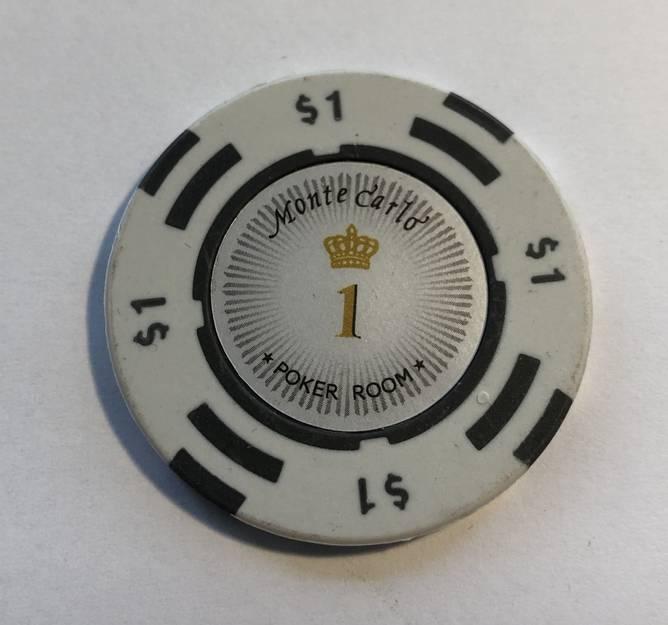 Bilde av Monte Carlo de lux 14g clay sjetonger verdi 1 25