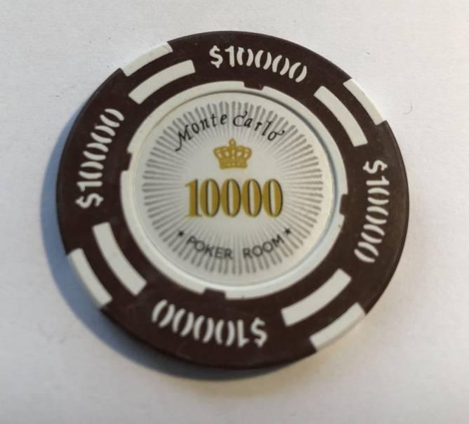 Bilde av Monte Carlo de lux 14g clay sjetonger verdi 10000