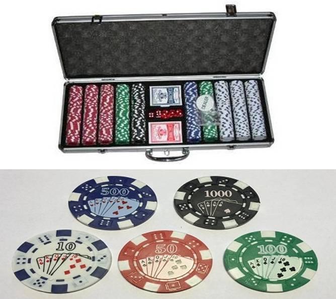 Bilde av 500 cash og turnering sjetonger 10-1000