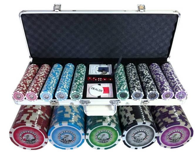 Bilde av 500 Las Vegas eagle poker sjetonger 1-500