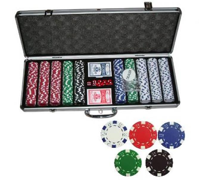 Bilde av 500 poker sjetonger