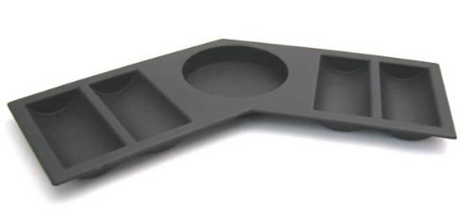 Bilde av Kopp og sjetongholder i plastikk buet