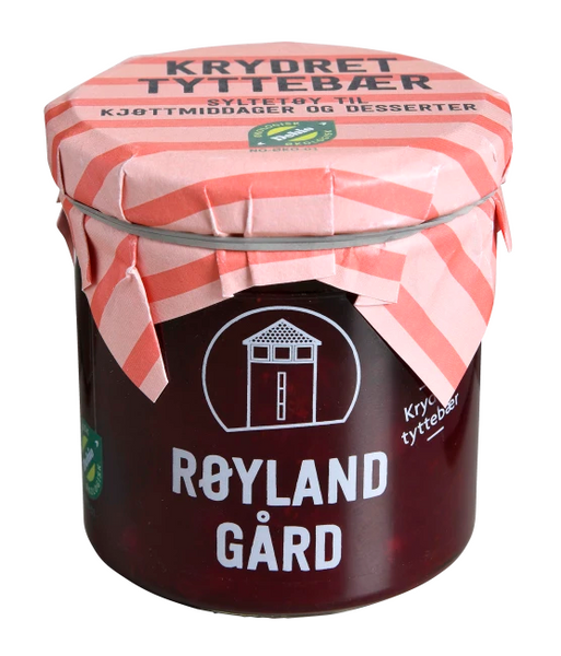 Bilde av Røyland tyttebærsyltetøy krydret ØKO 167 ml