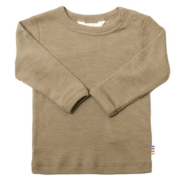 Bilde av Joha ull/silke rib trøye mini - grå