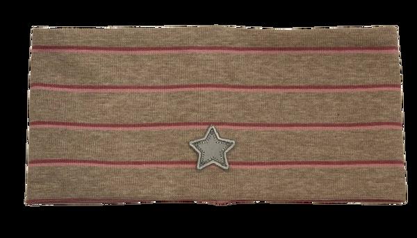 Bilde av Kivat pannebånd stripet - beige/rosa