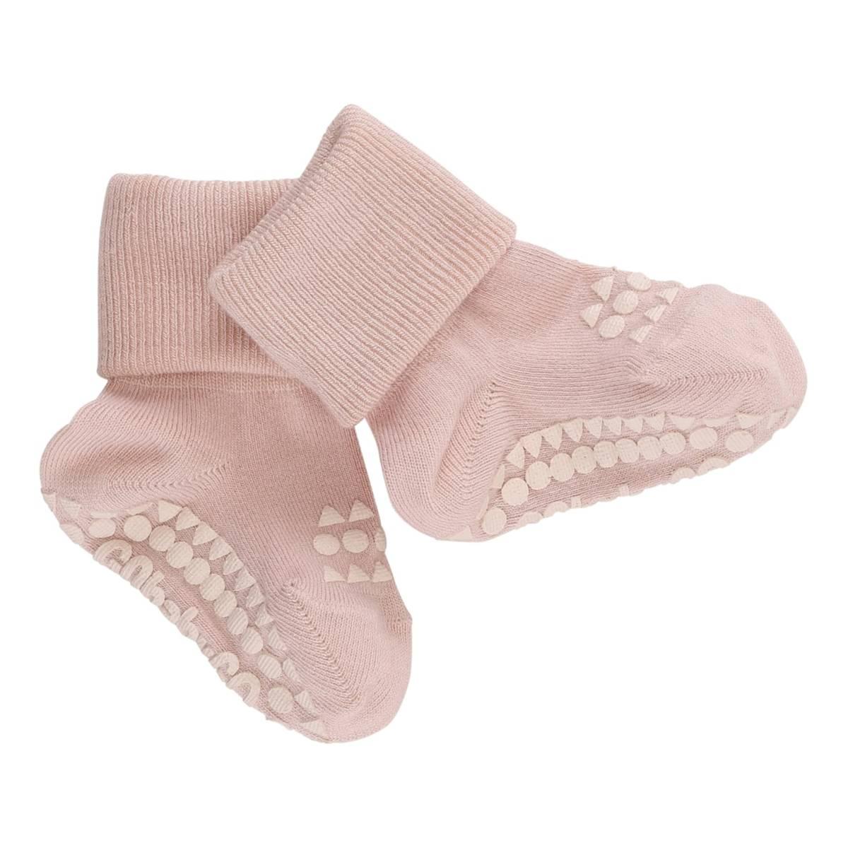 GoBabyGo antiskli sokker bambus - lys rosa