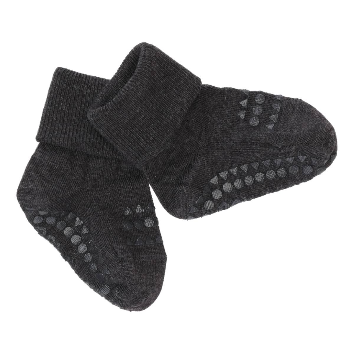 GoBabyGo antiskli sokker ull - mørk grå