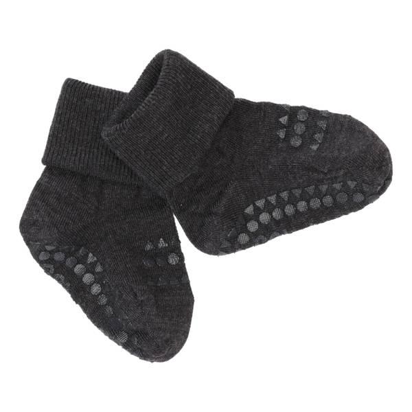 Bilde av GoBabyGo antiskli sokker ull - mørk grå