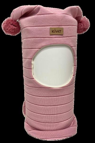 Bilde av Kivat Logo balaclava m/dusker -rosa stripet