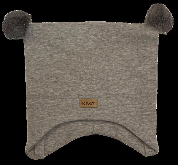 Bilde av Kivat Logo knytelue m/dusker - grå