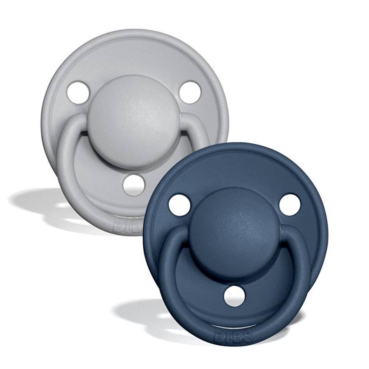 Bibs De Lux 2 pk silikon- cloud/steel blue