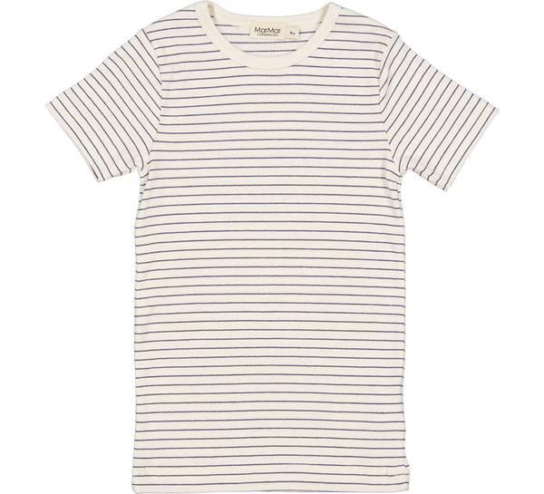 Bilde av MarMar Tago modal rib t-skjorte - blue stripe
