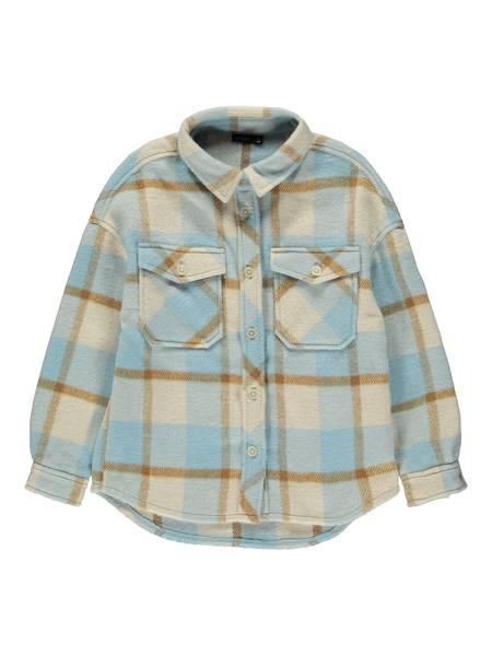 Bilde av Name It Hollie Check overshirt - dusty blue