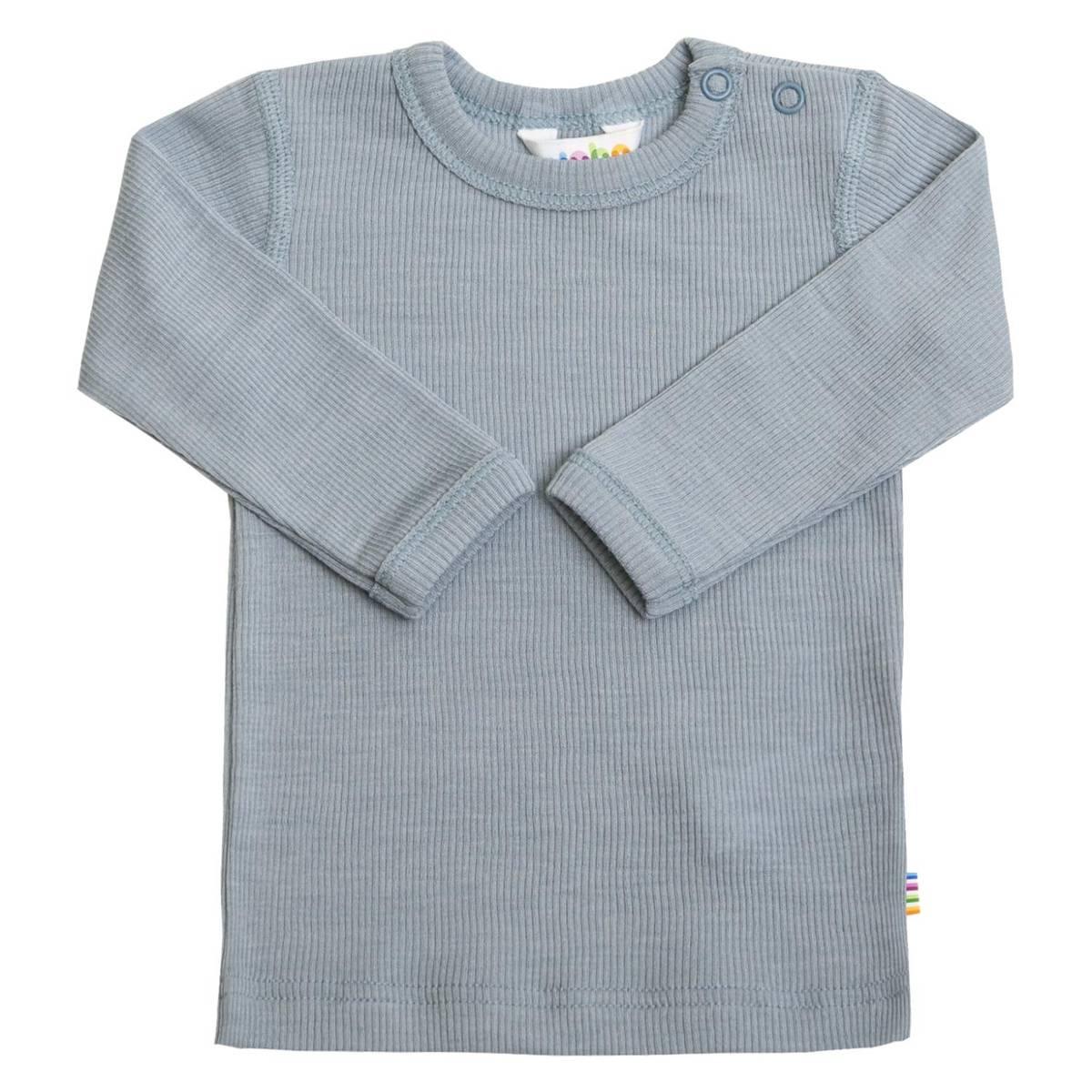 Joha Rib Ull/Silke trøye mini - denim blå
