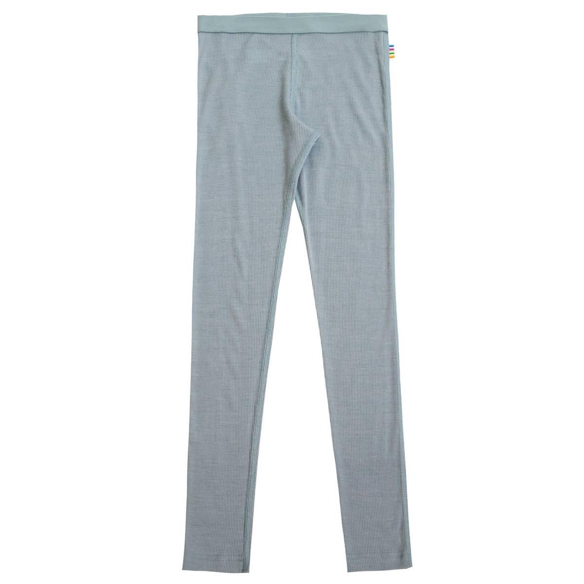 Joha Rib Ull/silke leggings kids - denim blå