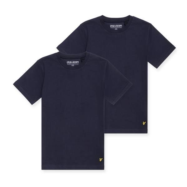Bilde av Lyle & Scott 2 pk t-skjorte - navy blazer