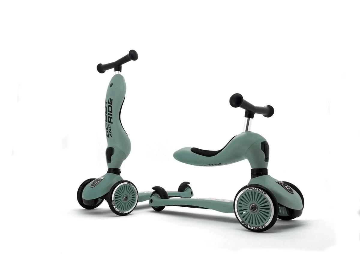 Scoot & Ride Highwaykick 1 sparkesykkel - forest