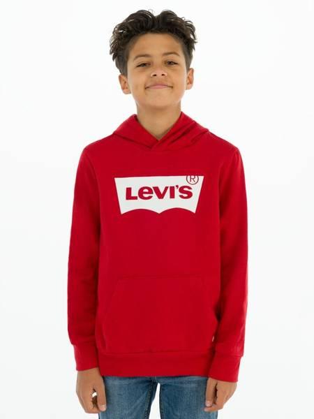 Bilde av Levis batwing hoodie - red/white
