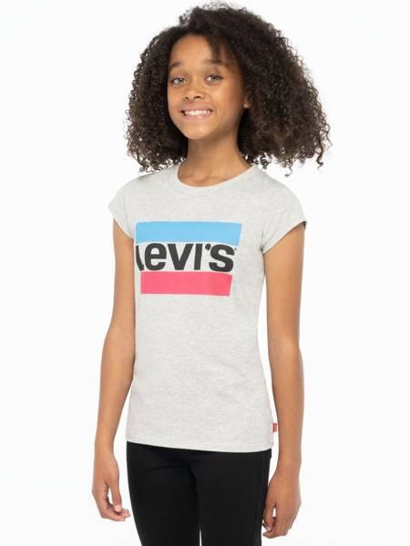 Bilde av Levis logo tee  -light grey heather m rosa
