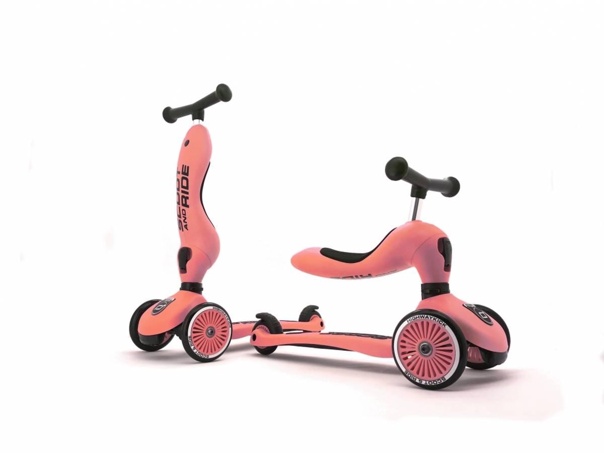 Scoot & Ride Highwaykick 1 sparkesykkel - peach