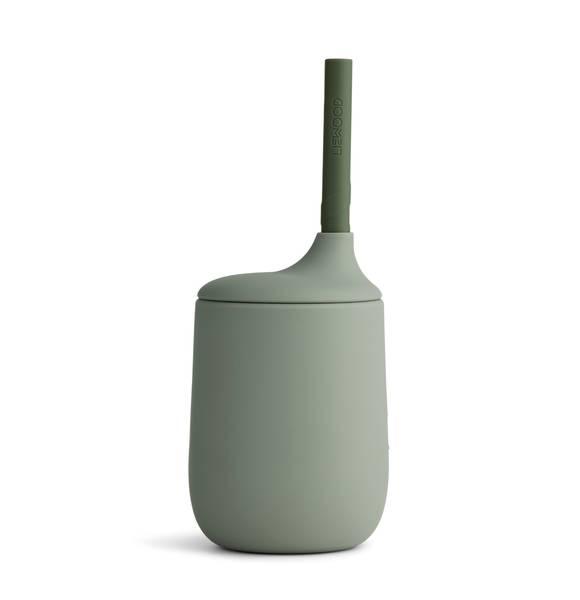 Bilde av Liewood Ellis kopp med sugerør - faune green