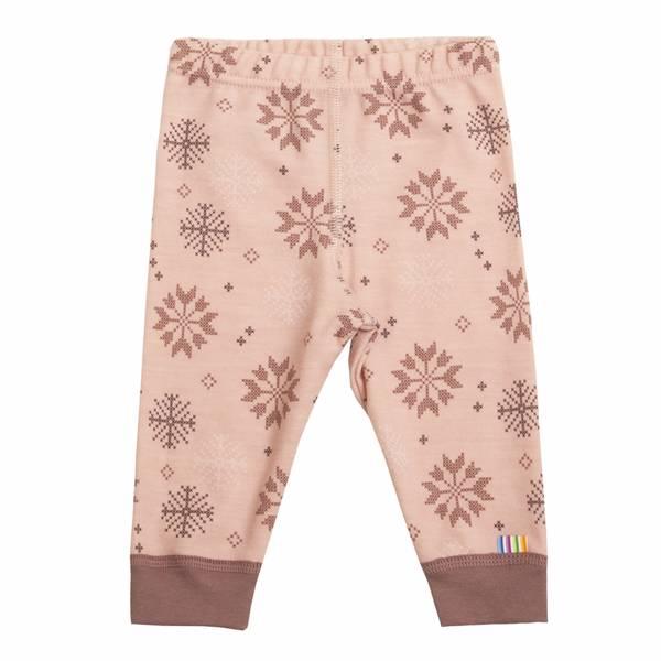Bilde av Joha Snow Flocks ull/bomull leggings - rosa