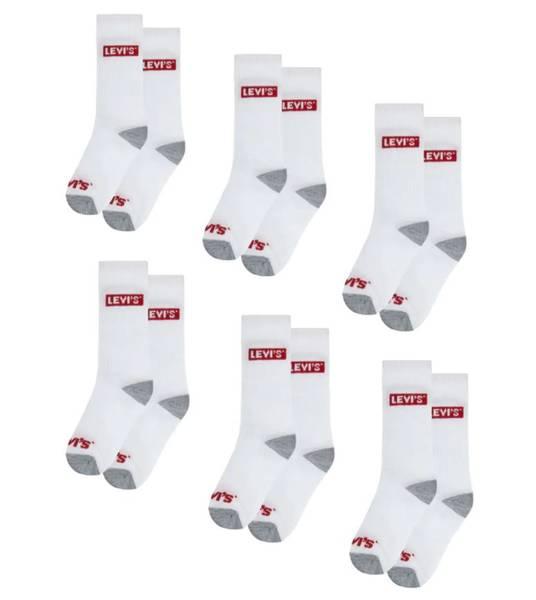 Bilde av Levis 6 pk sokker - hvit