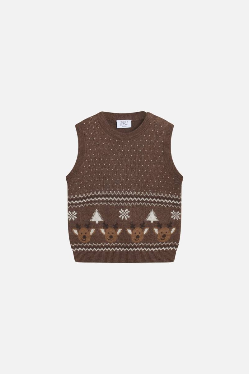 Hust & Claire Perry vest - toffee melange