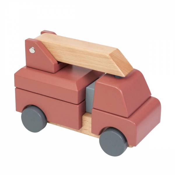 Bilde av Sebra brannbil i tre - clay red