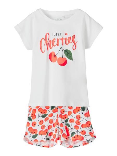 Bilde av Name It Vigea shorts sett - cherry