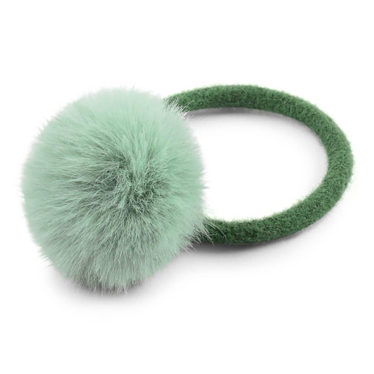 Lillelam hårstrikk med dusk- sjøgrønn